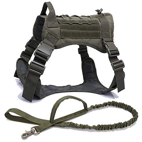 Pulsera táctica militar para perro de pastor alemán con asa de nailon elástico cinturón para perro pequeño perro grande cachorro