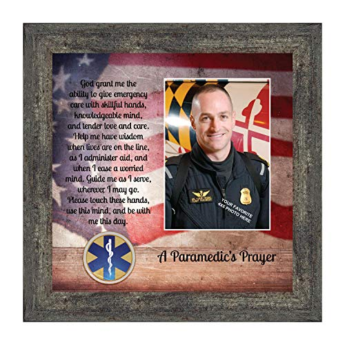 Crossroads Home Décor Prayer for The Paramedic Framed Poem, First Responders Gift, EMS, EMT, Gift for a Paramedic and Emergency Services Personnel, 6446BW