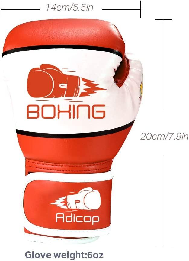 Adicop Kids Boxing Gloves for 4-12 Years Old Youth Boys Girls Boxing Training Gloves Sparring Boxing Gloves for Punching Bag Kickboxing Muay Thai MMA