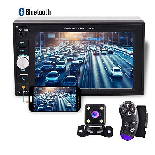 CAMECHO 2 DIN Coche Radio Bluetooth Coche Multimedia