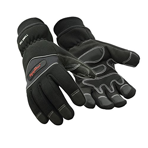 RefrigiWear Waterproof Fiberfill Insulated Tricot Lined High Dexterity Work Gloves (Black, Large)