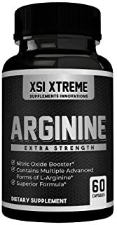 Arginine Extra Strength - 1250mg Nitric Oxide - Supplement for Blood Flow, Energy, Muscle Growth, and Vascularity - Aid Ph...