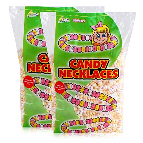 Sweet Stories Traubenzuckerketten 1,68 kg - Candy Necklaces (2er Pack)