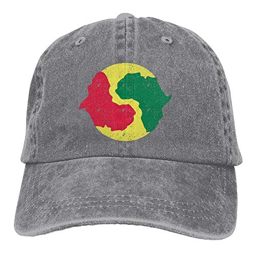 lanka Yingyang Afrikanische Unisex gewaschene verstellbare Vintage Cowboyhut Denim Baseball Caps