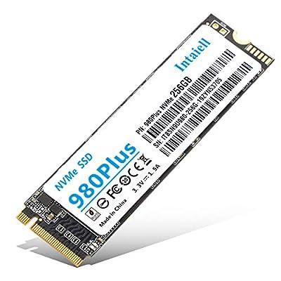 NVMe 256GB SSD- 3D NAND Flash PCIe Gen3.0X 4 M.2 2280 Internal Solid State Drivefor Laptop, Ultrabooks, Desktop Computer (256GB)
