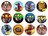 12 Stück Muffinaufleger Muffinfoto Aufleger Foto Bild Nin-jago (45) rund ca. 6 cm *NEU*OVP*