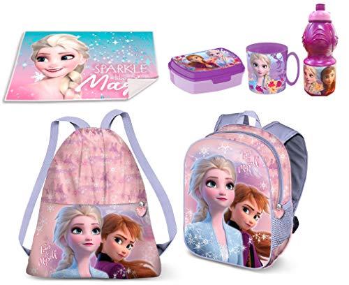 Set Zainetto Zaino in 3D Frozen True to Myself Anna Elsa Disney ,Sacca Sport, Porta Merenda Scuola Asilo Tempo Libero