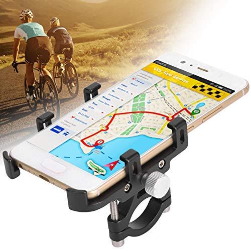 FOLOSAFENAR Soporte para teléfono para Bicicleta Soporte para teléfono Resistente Aleación de Aluminio, para Bicicleta, Scooter, Motocicleta, Apto para la mayoría de teléfonos, GPS(Black)