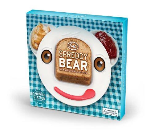 Fred and Friends SPREDDY BEAR Sandwich Plate