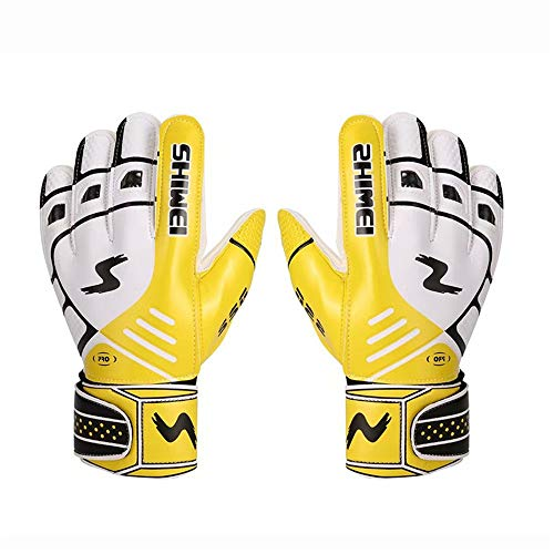 YUHUA-Guantes Adult Non-Slip Thickening Free Match Latex Wear-Resistant Goalie Gloves for Men Women High Performance Goalkeeper Gloves Work Gloves (Color : A, Size : Free)
