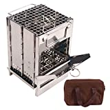 CAMPMAX Portable Folding Wood Stove Backpacking for Outdoor Camping...