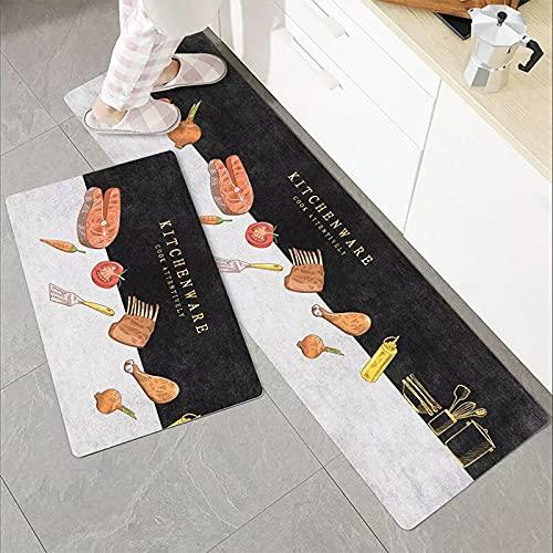 HLXX Alfombra de Cocina Impresa Felpudo de Entrada de Dibujos Animados Alfombras de Dormitorio Junto a la Cama Alfombras de Sala de Estar Balcón Baño Alfombras Lavables A15 50x80cm