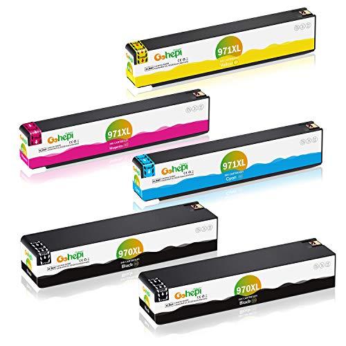 Gohepi 970XL 971XL Ersatz für HP 970 971 Druckerpatronen Kompatibel für HP Officejet Pro X451dw X476dw X551dw X576dw Patronen (2 Schwarz, 1 Cyan, 1 Magenta, 1 Gelb)
