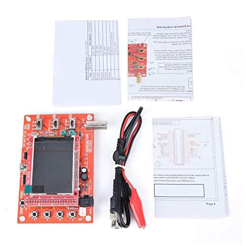 Kit de osciloscopio, Osciloscopio Digital de tamaño de Bolsillo Kit,osciloscopio digital soldado y ensamblado + sonda B1 con pantalla TFT de múltiples colores de 2.4 pulgadas