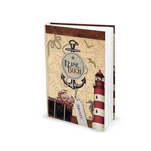 Reisebuch (Hardcover, A5) mit 136 leeren Seiten inkl. Inhaltsverzeichnis zum festhalten von Erlebnissen , Auflügen, Tipps und Erinnerungen; das perfekte Geschenkset zu Geburtstag, Weihnachten uvm.