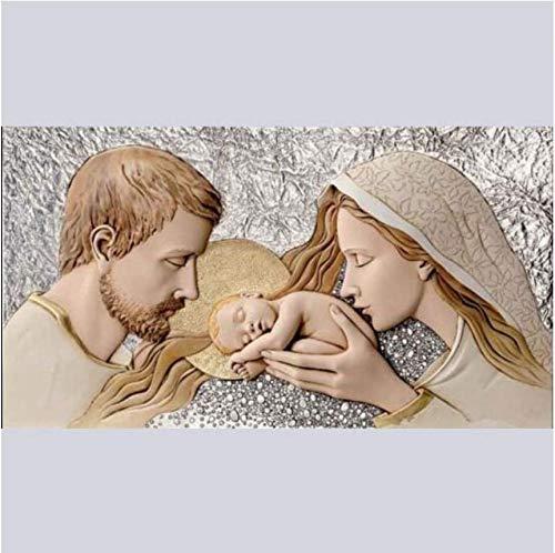 Nuevo Diy Pintura Diamante 3D Religión Virgen María y Jesús Juego de Artesanía Bordado Mosaico Piedras de imitación Con incrustaciones de punto de Cruz