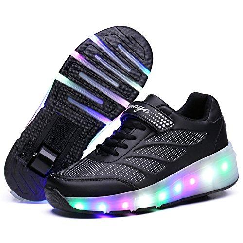 srder-Laufschuhe Sportschuhe Kinder Skateboard Schuhe Blinkschuhe Kinderschuhe mit Rollen LED Skate Rollen Schuhe Trainer Gymnastik Sneakers für Junge Mädchen Weihnachten Ostern