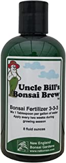 Uncle Bill's Liquid Bonsai Fertilizer Exclusively from New England Bonsai Gardens - Premium Bonsai Tree Fertilizer - 8 Ounces