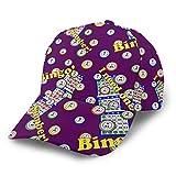 Bingo Dots Purple Dad Baseball Cap Unisex Adult Dad Hat Trucker Hat Adjustable Buckle Slouch Hat, Breathable Moisture Wicking Ball Cap Casual Snapback Hat Running Cap