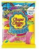 Chupa Chups Gomis, Golosinas de Sabor a Fresa con Aromas Naturales, Bolsa de Lenguas de 150 gr.