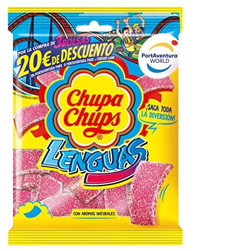 Bolsa 150 gramos de Lenguas Chupa Chups Sabor a Fresa