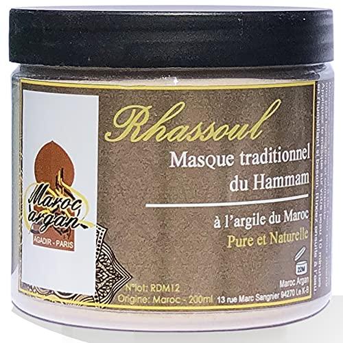 Rhassoul en poudre - Argile Purifiante du Maroc 100% Naturelle et Hypoallergénique -...