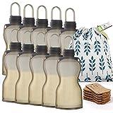 Haakaa Silicone Breastmilk Storage Bag Reusable Milk Storage Bag Breast Milk Freezer Bag 260ml, 10pcs