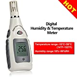 Digital Humidity and Temperature Meter, Portable...