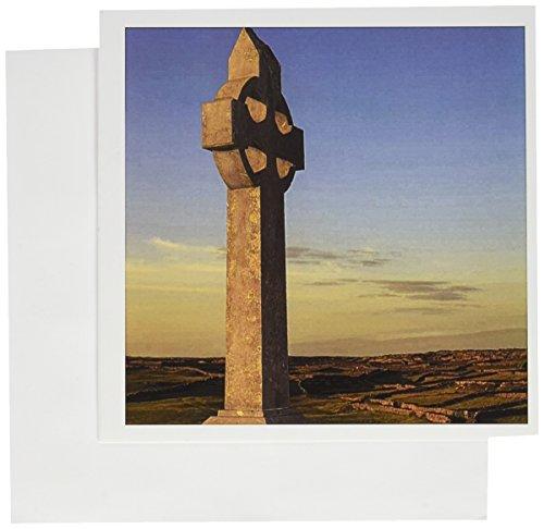 3dRose Celtic Cross, Inishmore Island, Ireland Greeting Cards, 6' x 6', Set of 6 (gc_137461_1)