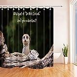 vrupi Safari Wil Animals Suricatta Duschvorhänge für Badezimmer, lustiges Erdmännchen Meme auf Holz-Polyester-Stoff, wasserfest, Duschvorhang-Haken im Lieferumfang enthalten