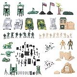 Figure militari Accessori Gruppo Battaglia Serbatoio Recinzione Rifugio Uomo Armi Giocattolo Soldati Playset Action Figure per Bambini JXNB