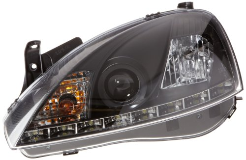FK Automotive FKFSOP011011 daglicht koplamp met dagrijverlichting, zwart