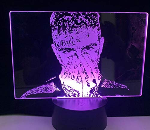 3D LED Lampe JUICE WRLD KEINE VANITY Lil Peep CRY BABY GET CAKE DIE JUNGE LIEBE All Design SKU