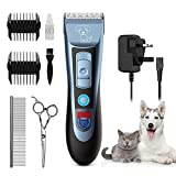 Uiter Dog Clippers - Grooming Clippers Kit Low Noise Rechargeable Cordless Quiet Dog