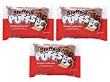 Stuffed Puffs - Chocolate-on-Chocolate 3 Pack, Chocolate Filled Cocoa Marshmallows Made with Real Chocolate, Perfect for Easier S'mores, 3 Bags (8.6oz each)