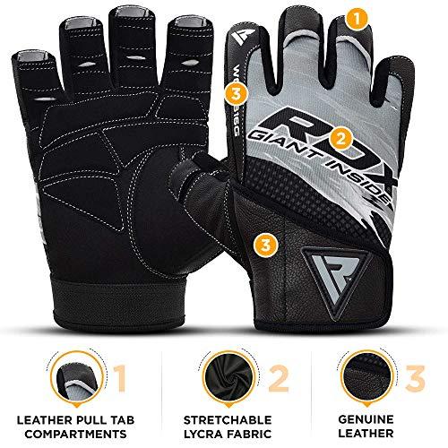 RDX Fitness Handschuhe Trainingshandschuhe - 4