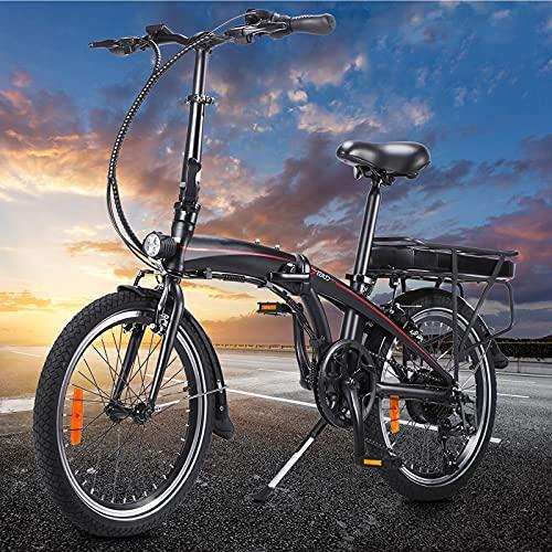 Bicicleta elctrica Plegable Motor Bicicleta Plegable Bicicleta eléctrica con una duración de batería de 50 km Bicicleta eléctrica para Adultos con 3 Modos de conducción Ideal para Viajes Cortos