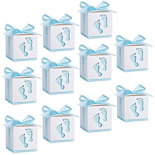 Xkfgcm 20PCS Bolsa de Dulces Cajitas Regalo Papel Caramelos Bombones Regalos Detalles de Fiesta para Cumpleaños Bautizo Niños Recién Nacida Fiesta Boda