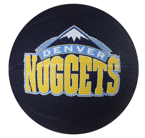 Lowest Prices! Spalding NBA Denver Nuggets Mini Rubber Basketball