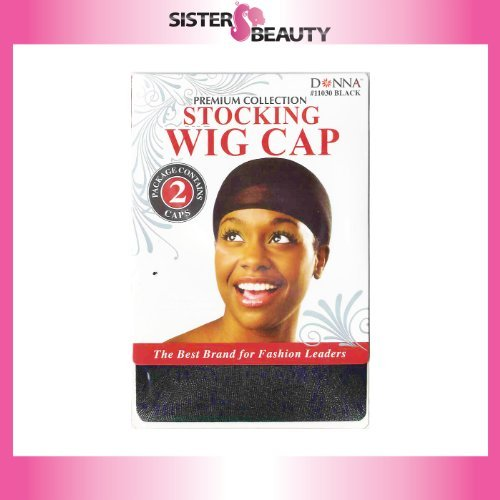 STOCKING WIG CAP BLACK (2 PACK) by Donna [Beauty] (English Manual)