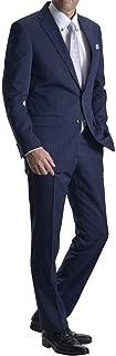 [MARUTOMI] スーツ メンズ 2ツボタン ビジネススーツ スリム ウォッシャブルパンツ 洗えるスラックス 防シワ ナチュラルストレッチ オールシーズン対応 【裾上げテープ・スーツハンガー付属】 AC77