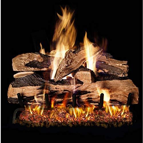 RealFyre Split Oak Designer Plus Vented Gas Logs (SDP-24), 24-Inch