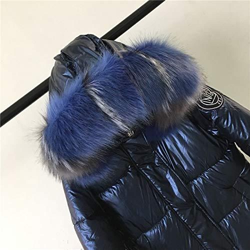 Xiaojie damesmantel van katoen winterjas dames warme dikke hooded met lange coating shining stof stijlvolle vrouwelijke parka