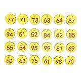 Cikonielf 50 Uds Etiqueta de Colmena Abs Etiquetas de seal numeradas Redondas con Agujero Accesorio para Ganado Rojo + Amarillo Adecuado para Apicultura cra de Animales