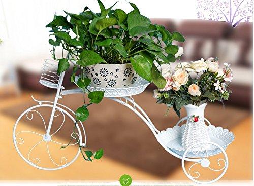 FZN Fleur à Motifs européens Fleur à Motifs Multiples Fleur à Fleurs Fauteuil à Fleurs Fauteuils à Fleurs au Sol Pots de Fleurs (Couleur : Blanc)