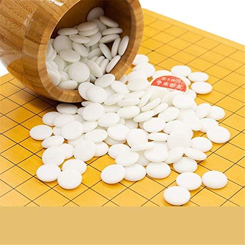XHH Go Juego de Tablero de ajedrez Go Set con Tablero de bambú Reversible e Incluye tazones y Piedras 2 Jugadores Estrategia clásica China Boa (Rompecabezas de Entretenimiento Familiar)