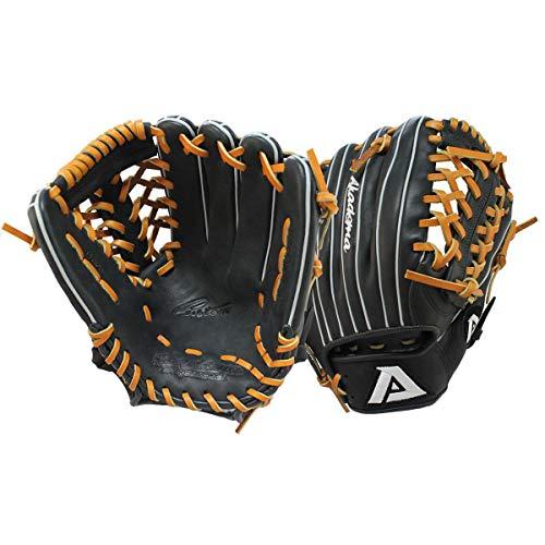 Akadema Prosoft Elite Series Baseball Infielders Gloves, Black/Tan, Left Hand
