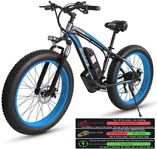 """Bciclette Elettriche, Bici elettrica Montagna for adulti, biciclette tre modalità di lavoro elettrico, 26"""" Fat Tire MTB 21 Speed Gear Commute / Offroad bicicletta elettrica for donne degli uomini"""