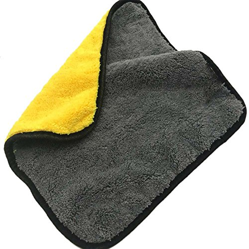 Demarkt - Paños de limpieza de microfibra absorbentes, ideales para el hogar, la oficina, la cocina, el baño o el coche, amarillo gris, 30cm*30cm (650GSM)