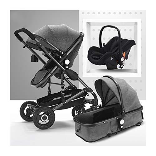 JIAX Parasol Cochecito Bebé Universal, Sistema De Viaje Incluye Cochecito De Bebé con Asiento Reversible, Bandeja De Almacenamiento Adicional para Niños, Cochecitos Y Combo De Asiento De Coche
